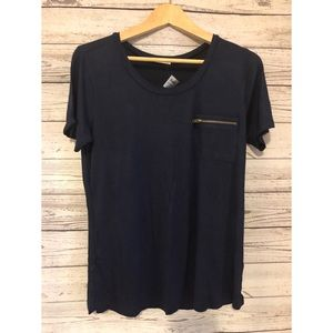 Active USA Comfortable blue elastic shirt Large